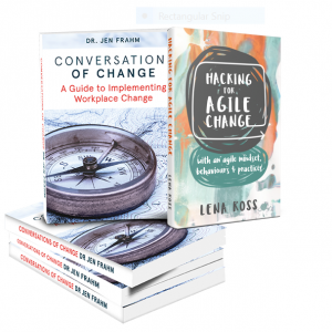 Conversations of Change and Hacking for Agile Change Book Covers